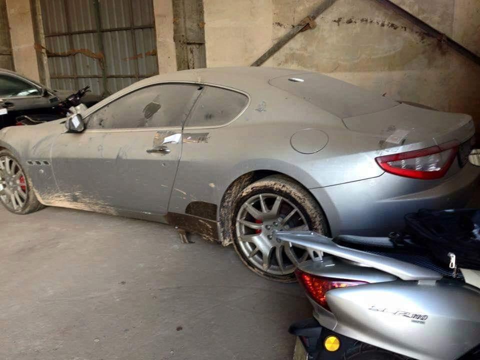 Poškodovan Maseratijev lepotev potrebuje le nekaj ur dela za lepotne popravke, pa bo spet pripravljen na dolge kilometre. Foto: 500Plus HP For Sale