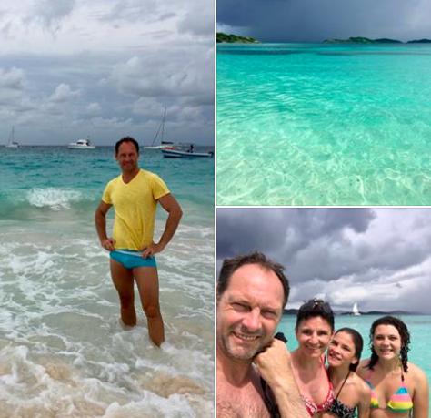 Pevec skupine Čuki z družino uživa na eksotičnem otoku Barbados. Foto: printscreen facebook