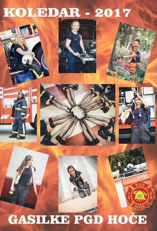 Tako bo izgledala naslovna stran kolegarja gasilk PGD Hoče za leto 2017.